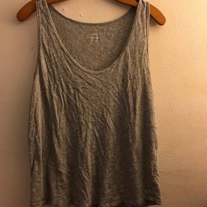 J Crew Vintage Cotton Grey Tank Top